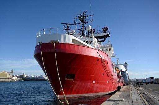 L'Ocean Viking, le navire de SOS Méditerranée.