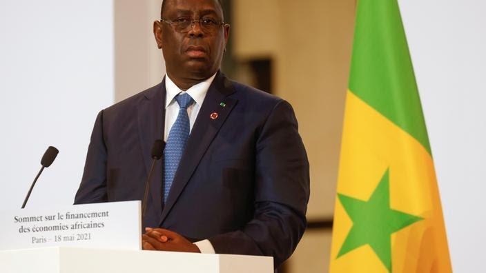 Le président sénégalais Macky Sall à Paris le 18 mai.