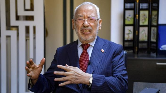 Rached Ghannouchi, le président du parlement tunisien et chef du parti Ennahdha.