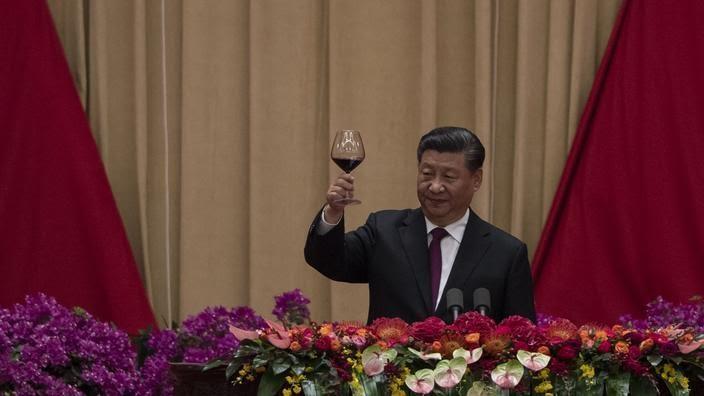 Le secrétaire général du Parti communiste chinois Xi Jinping. Pékin, 30 septembre 2019