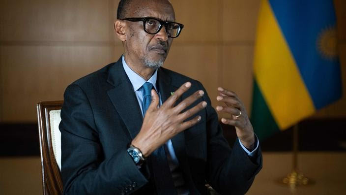 Le président du Rwanda, Paul Kagame, à Kigali, le 28 mai 2021.