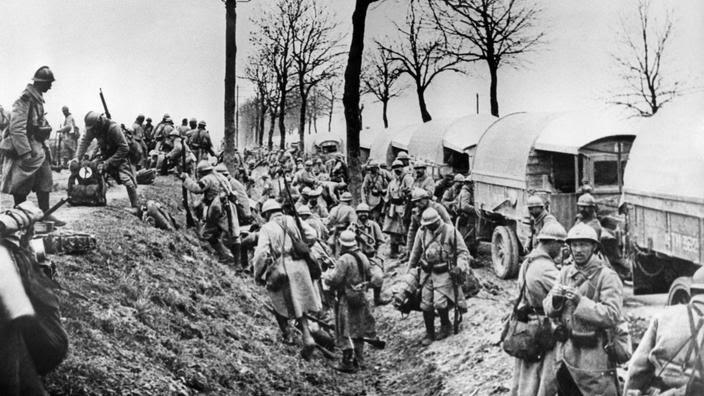 Des soldats français en 1916 à Verdun.